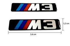 2 ADESIVI STICKERS CERCHI 3D M3 x BMW E30 E36 E46 E90 E91 E92 E93 F30 F31 F34