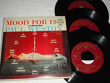 PAUL WESTON-Mood For 12 (1955) COLUMBIA 3x 45 RPM E.P. w/Barney Kessel