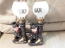 Bar Ware Drunken Man on Lamp Post Vintage