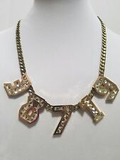 **Lanvin** Dress Macao Numbers Necklace (brooch, Belt, Brooch, Earrings, Ring)