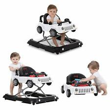 3-in-1 Classic Jeep Wrangler Ride on Baby Walker & Push-behind