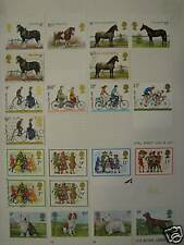 Britain 1978 hinged mint and fine used stamps sets