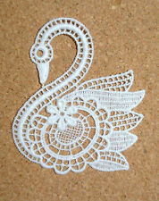 Birds - Swan - sew-on lace motif/applique/patch/craft/card making