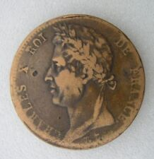 CHARLES X  : COLONIES  10 c 1827  Martinique Guadeloupe