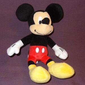 "Mickey Mouse 9"" Plush Stuffed Animal Disney Bean Bag Toy"