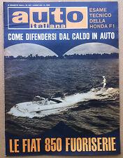 Auto Italiana - 1964 n° 32 - FIAT 850 - De Tomaso Cortina - meccanica - corse