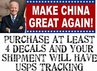 "Funny ""MAKE CHINA GREAT AGAIN"" Anti Joe Biden BUMPER STICKER rigged election"