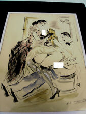 EROTISME /FANTASME DE COUPLE -EAU FORTE AQUARELLEE 1930 - BERTHOMME StA - ERO XI