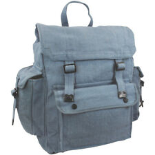 Highlander Large Pocketed Web Backpack Cotton Canvas Rucksack Army Bag Raf Blue