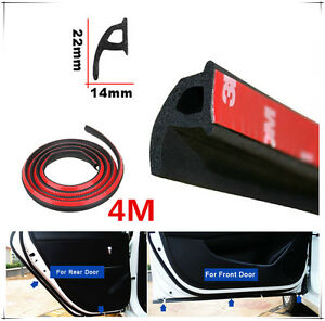 New P Type 4M Car Door Rubber Seal Strip Noise Insulation Anti-dust Trim Sealing