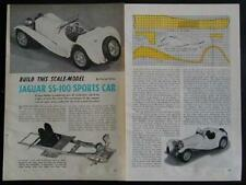 Jaguar Ss-100 Sports Car 1954 Brass Scratch 1954 HowTo build Plans