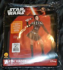 Girls Darth Vader Star Wars Halloween Costume Fits Adult Size Small 2-6 S Women