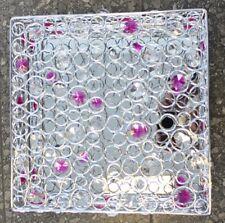 diseño halogen-deckenlampe Lámpara de techo Cristallo CROMADO/Fucsia/blanco