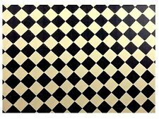 DOLLS HOUSE FLOORING LINO  CHECK DIAMOND MINIATURE WALL PAPER, 12 TH SCALE NEW