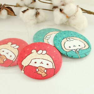 Molang Women Cute Mini Portable Round Make up Hand Pocket Mirror - WARM WINTER