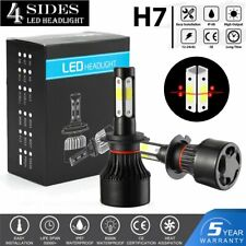 2020 H7 LED Headlight 6000K 2000W 300000LM 4-Side Kit Low Beam Bulbs High Power