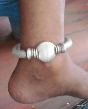 Old silver Anklet Feet Bracelet Bangle vintage antique indiantribal jewelry
