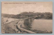 Potomac River Bridge Sheperdstown Wv Rare Antique Albertype Horse 1920s
