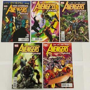 Avengers Prime Complete 5 Issue Marvel Mini-series Set Brian Bendis Alan Davis