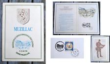 Timbre faïenceries de Quimper sur carte commémorative Muzillac, 1990