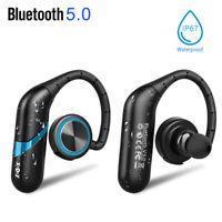 IPX7 TWS Wireless Headphones Ear Hook True Bluetooth5.0 Earphones In-Ear Headset