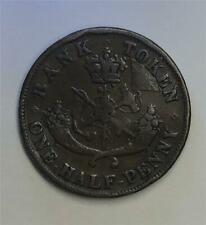 1857 1/2 Penny Token Bank of Canada KM#Tn2-Make Us An Offer E00013