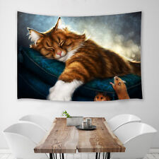 Cat and mouse Tapestry Wall Hanging for Living Room Bedroom Dorm Decor