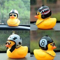 Funny Duck Car Dashboard Decoration Toy Auto Decor Interior Cartoon Helmet Lucky