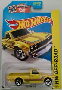 HOT WHEELS DATSUN 620 UTE KMart Exclusive Yellow shipped in a Protector