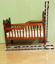 NOS Town  Square Miniatures Crib Victorian Mahogany Finish 1:12