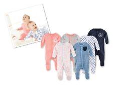 Organic 100% Cotton Baby Sleep Suit Bodysuits Long Sleeve Boys Girls 0 - 24 m