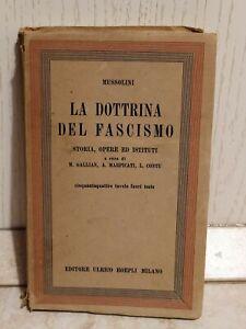 Benito Mussolini La Dottrina Del Fascismo Storia Opere Istituti Hoepli 1935