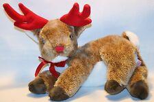 "Ty Beanie Buddies Roxy Reindeer Plush 13"" Stuffed 2004 Brown Christmas Decor"