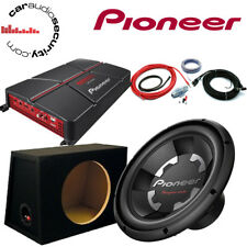 "Pioneer TS-W300S4 12"" Subwoofer Bass Deal 1400 Watts GM-A5702  Amplifier Package"