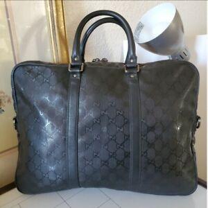Gucci Convertible Briefcase GG Imprime Bag