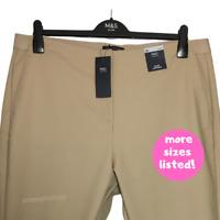 M&S Ladies Trousers Coffee Supima Cotton Stretch Crop Slim Leg BNWT Marks