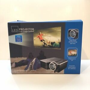 """Portable Mini LED Entertainment Projector LCD Image System Projects Up To 60"""""""