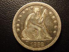 1858 liberty seated quarter