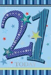 Happy 21st 21 Birthday Card - for Man