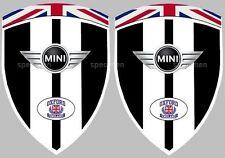 2 adhésifs stickers MINI COOPER MIDNIGHT BLACK (idéal pour ailes avant)