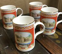 James Sadler Mug Cup Coffee Tea Caernarfon Castle bone china Set Of 4 Four