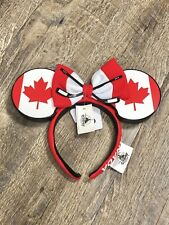 NEW Disney Parks EPCOT Canada Flag Hockey Sticks Mickey Minnie Ears 2020