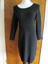 Gap women's Black Cotton Viscose Sweater Dress Xlarge NWT Fits size Large