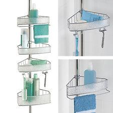 Bathroom Shower Caddy Corner Bath Rack Shelf Accessory Holder Storage Organizer