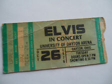 ELVIS PRESLEY Original 1976__CONCERT TICKET STUB__Dayton, OH