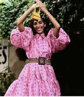 Cecilie Bahnsen Billowy Ruffled Collar Puff Sleeves Floral Jacquard Belle Dress