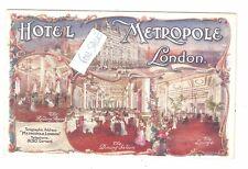 LONDON, HOTEL METROPOLE, MULTI-VIEW, ADVERT CARD Advertising