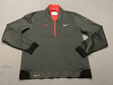 Nike Tiger Woods Collection Dri-Fit Ls 1/2 Zip Pullover Jacket (M, Gray)(Em)