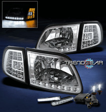 1997-2003 FORD F150 EXPEDITION LED CLEAR CRYSTAL HEAD LIGHT+CORNER+DRL+6000K HID