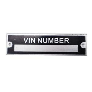 Simple CAR Serial Number VIN Plate Blank VIN PLATE For Trailer